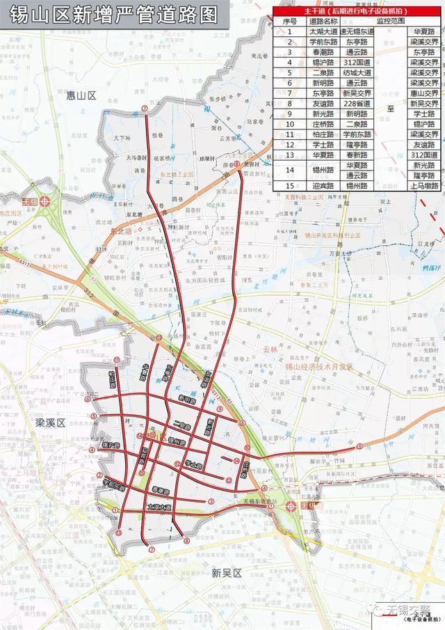 注意!锡山区新增15条违停严管路段!